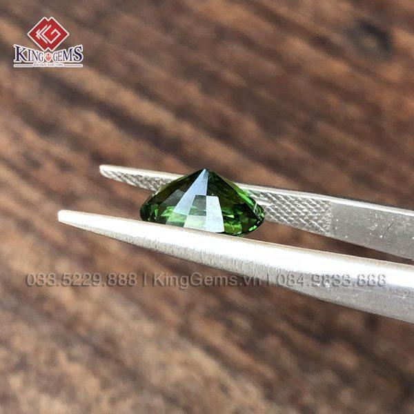 Mặt đá Tourmaline xanh lục KG-TML-0004 có độ trong, thiên nhiên 100% ảnh 2
