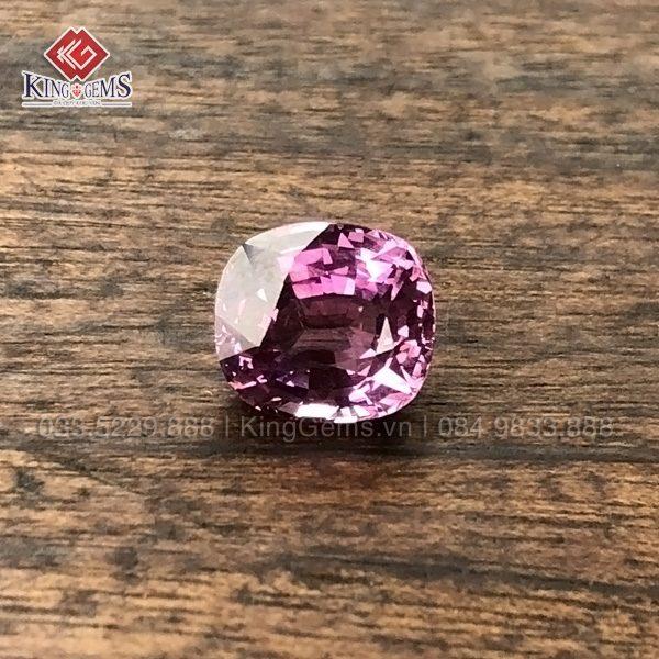 Mặt đá Spinel hồng ánh tím Kg-SPN-0001-anh-1