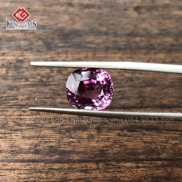 Mặt đá Spinel hồng ánh tím Kg-SPN-0001-anh-4