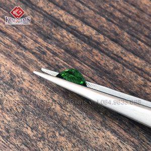 Mặt đá quý Tourmaline xanh lục KG-TML-0003 khai thác tại Lục Yên ảnh 2