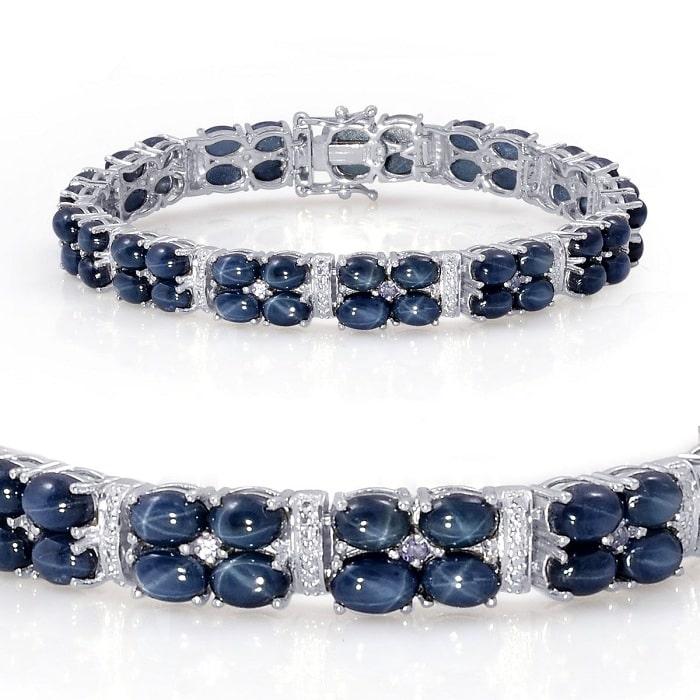 Vòng cổ và vòng tay đá Sapphire