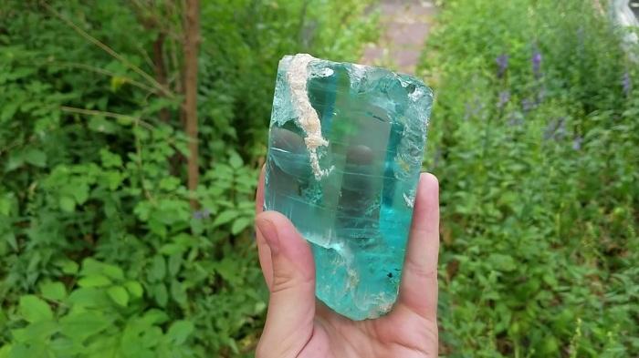 Khoáng vật Aquamarine thiên nhiên tại mỏ khai thác King Gems