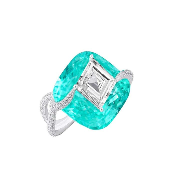 Nhẫn đá Tourmaline màu làm ngọc bích