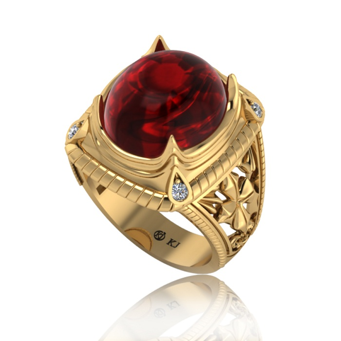 Nhẫn Ruby là món trang sức thể hiện quyền lực