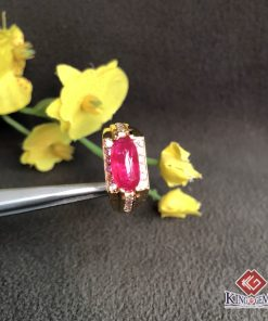 Mặt nhẫn Ruby hình con thuyền 1