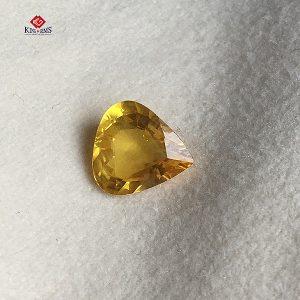 Mặt dây chuyền đá Sapphire vàng - Hình trái tim