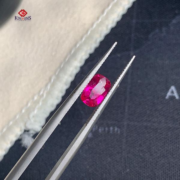 Mặt nhẫn đá Ruby hồng KG-RBF-0003 ảnh 2