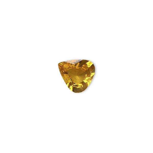 Đá sapphire vàng hình trái tim
