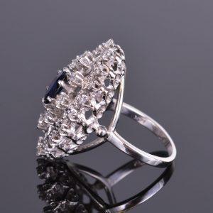 Blue Sapphire and Diamond Ring Estate 4