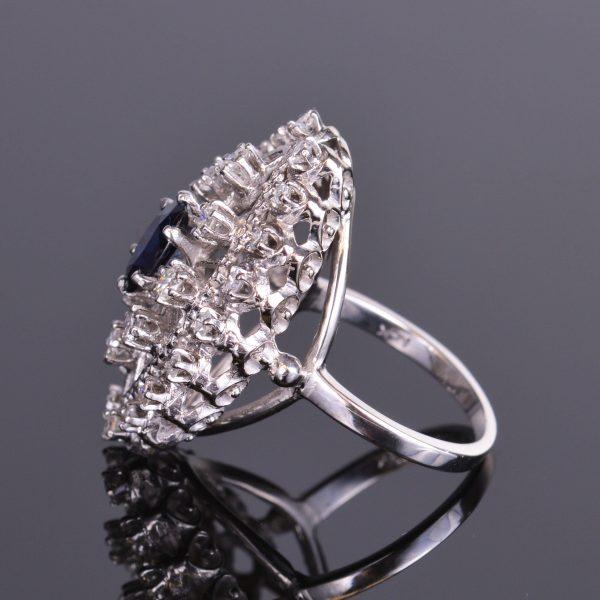 Blue Sapphire and Diamond Ring Estate 2