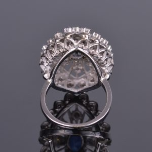 Blue Sapphire and Diamond Ring Estate 5