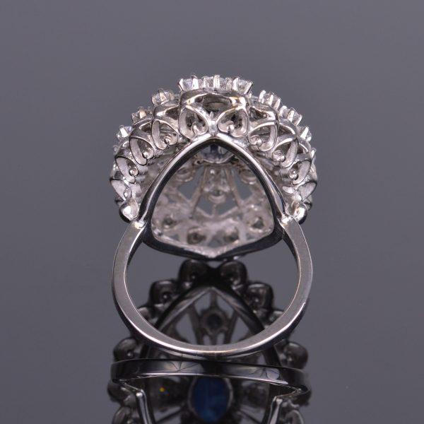 Blue Sapphire and Diamond Ring Estate 3