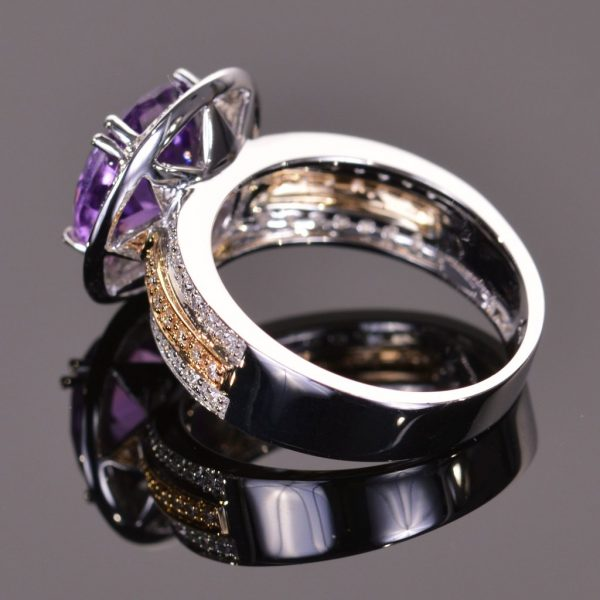 Cache Ring in Amethyst and Diamond 2