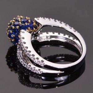 Blue Sapphire Sphere Ring 4