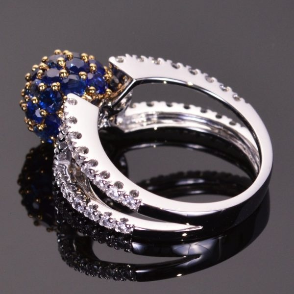 Blue Sapphire Sphere Ring 2