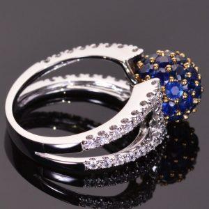 Blue Sapphire Sphere Ring 5