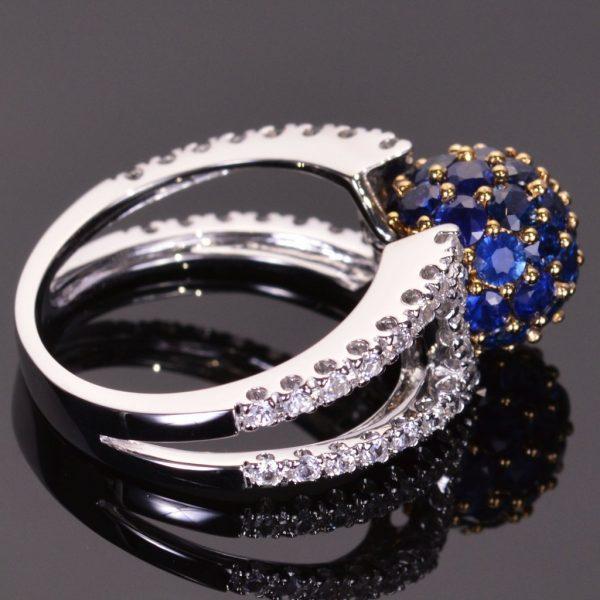 Blue Sapphire Sphere Ring 3