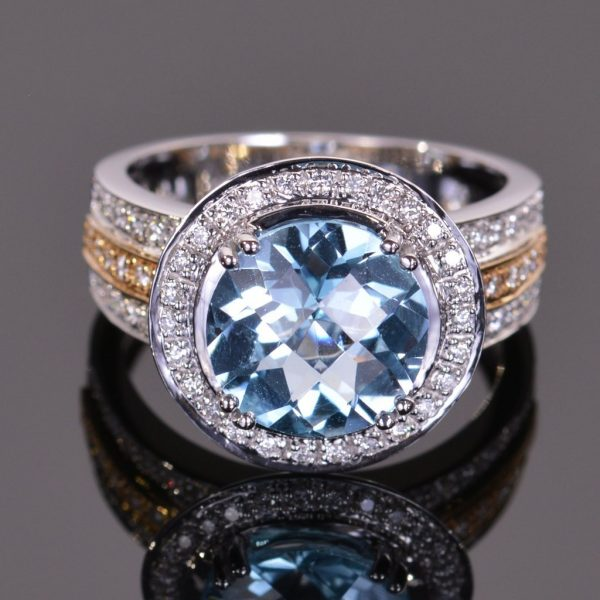 Cache Ring in Blue Topaz 1