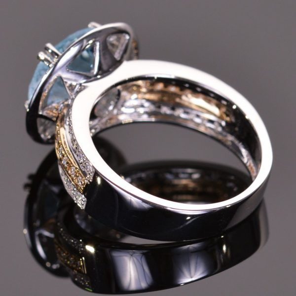 Cache Ring in Blue Topaz 3