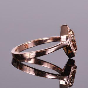 Cognac Shield Cut Diamond Ring 5