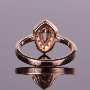 Cognac Shield Cut Diamond Ring 7