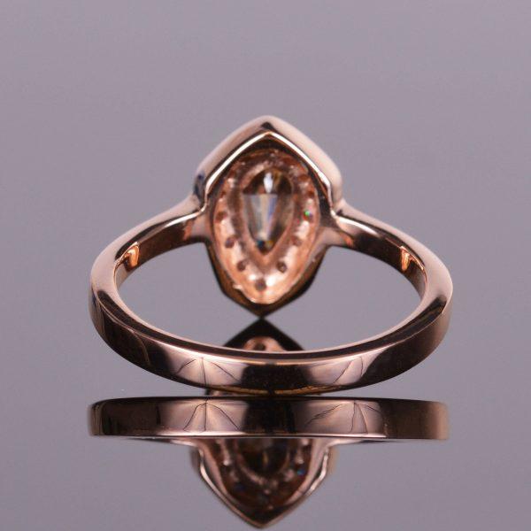 Cognac Shield Cut Diamond Ring 4