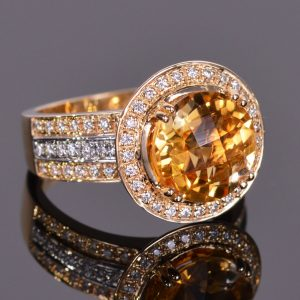 Cache Ring in Golden Citrine 4
