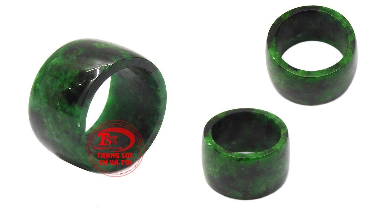 Nhẫn Cẩm Thạch Ngọc cẩm thạch thiên nhiên có kiểm định