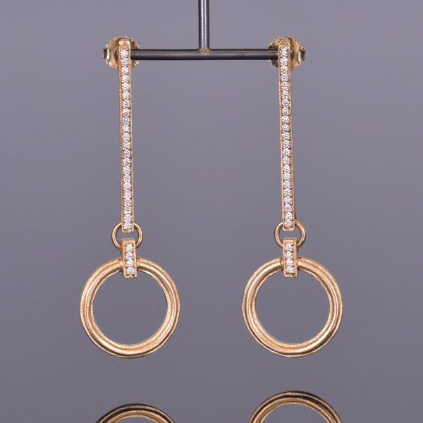 Gold Drop Diamond Earrings by Louis XV 1