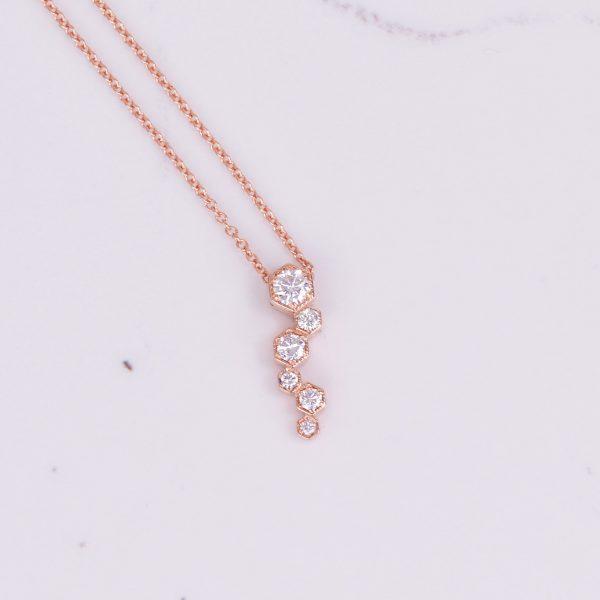 Diamond Hexagon Pendant 1