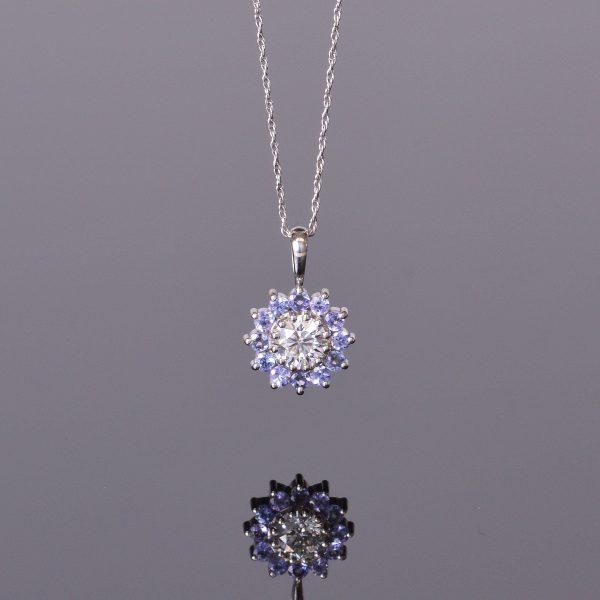 Diamond and Tanzanite Pendant 1