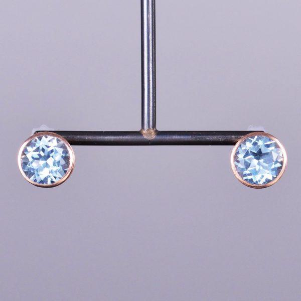 Aquamarine Stud Earrings 1