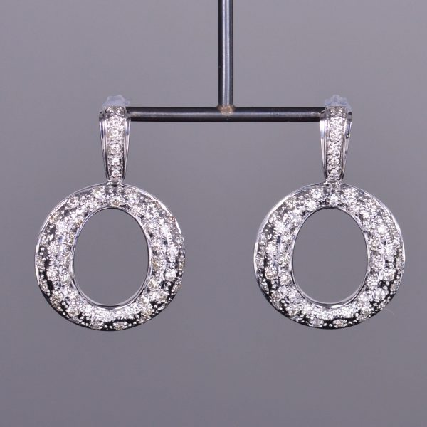 Diamond Drop Circle Earrings 1