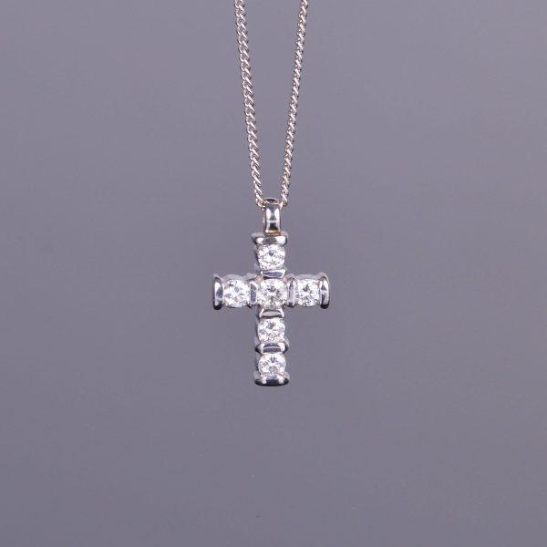 Diamond Cross Pendant Estate 1