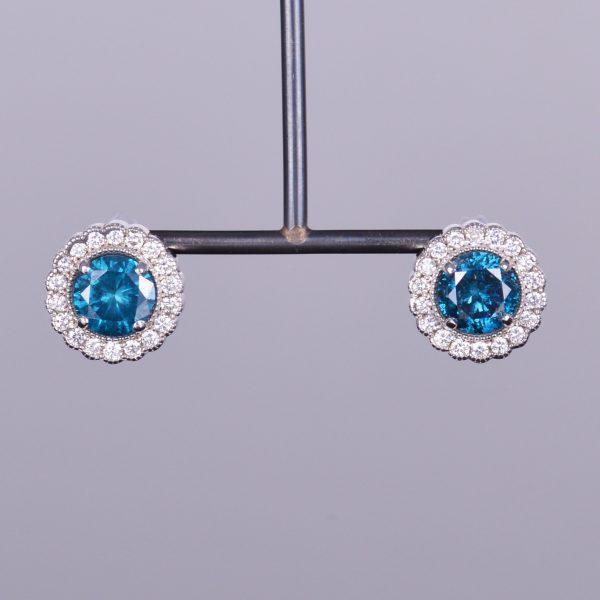 Diamante Azul Earrings 1
